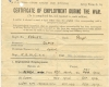 J Blair - RAMC Certificate of Employment